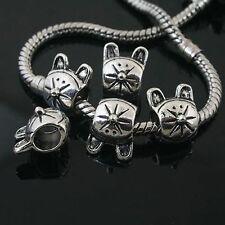 12pcs Tibetan Silver cat spacer Beads Fit European charm  Bracelet  L0081