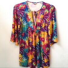 Trina Turk Tunic Baby Doll Coverup Top V Neckline XS