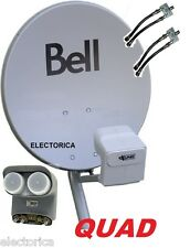 "20"" BELL TV HD SATELLITE DISH + QUAD DPP LNB+SWITCH +2X SEPARATOR NETWORK DP 500"