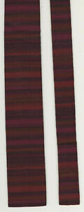 Vtg BJE Mens Neck Tie Square Bottom Flat End Nut Tree Vacaville California Reds