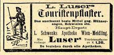 L.Luser's Touristenpflaster Schwenks Apotheke Wien Historische Annonce 1910