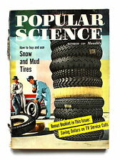 Popular Science Magazine OCTOBER 1957 How to Buy and Use Snow and Mud Tires