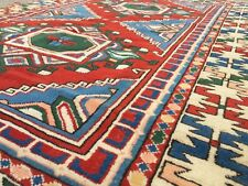 Old Kazak Rug Wool Oriental HandMade 192x132cm old vintage carpet Turkish