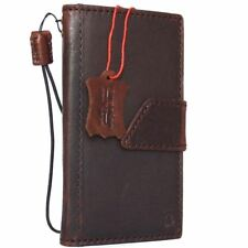 genuine vintage real leather Case for apple iphone 8 book wallet magnetic Davis