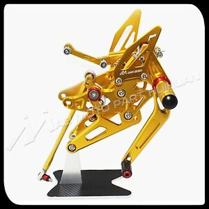 MAD MOTO Yamaha YZF R1 rearsets 2004 2005 2006 foot pegs YZF-R1 rear set GOLD