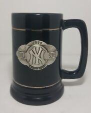 NY Yankees Black Silver Pewter Mug Cup 2000 World Series Champions Fan Baseball