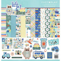 PHOTOPLAY 12x12 Scrapbook Paper LET'S GO COLLECTION PACK LGO8931N