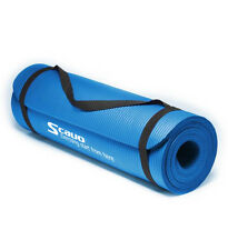 """Scavo Blue NBR Yoga Mat 0.4"""" Thick Exercise Fitness Pilates Camping Pad Non-Slip"""