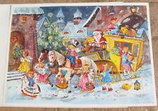 Vtg Kruger Western Germany Advent Calendar Christmas Card New Unused Antique Old