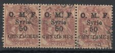 Syrien Syria 1920 used Mi.130 strip/3 Freimarken Definitives Frankreich [st4856]