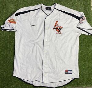 Vintage Baltimore Orioles MLB Baseball Jersey Nike Size XL Button RARE Roberts