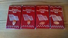 4 Brand New Souvenir Penny Books For Elongated Cents & 3 FREE PRESSED PENNIES!