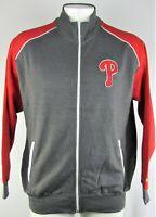 Philadelphia Phillies MLB Men's Gray Full Zip Track Jacket *Flawed