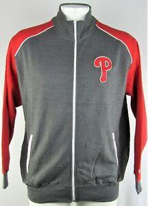 Philadelphia Phillies MLB Men's Gray Full Zip Track Jacket