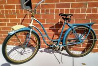 1940'S WOMAN'S DERBY BICYCLE WITH ORIGINAL TIRES & EQUIPMENT FOR RESTORATION
