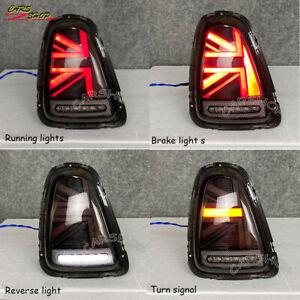 Red Black UNION JACK UK LED Rear Tail Lamp Light For MINI COOPER R56 R57 R58 R59