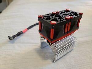 #ECSRC Dual 1/5 Scale Custom V3 Aluminum Tornado Cooling Fan and Heatsink Combo