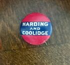 Vintage Harding and Coolidge for President Campaign Pinback Button 1920 VG