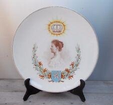 Antico grande piatto ceramica San Amand Hamage Belga La Reine @