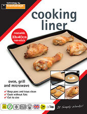 NEW REUSEABLE NON STICK COOKING LINER SHEET - 33 x 40 CM - Pack of 5