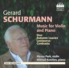 Schurmann: Music for Violin & Piano, New Music