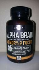Sealed Bottle Onnit - Alpha Brain Memory & Focus 30 Caps, Exp 02/2022