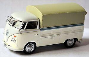 VW Volkswagen T1 Camion à Benne Pick-Up Châssis Plane 1951-67 Gris & Blanc 1:43