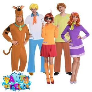 Adults Scooby Doo Costume Fred Shaggy Velma Daphne Book Week Fancy Dress Outfit