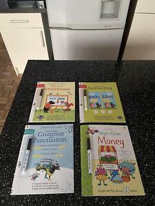 Usborne Wipe Clean Books Bundle BRAND NEW