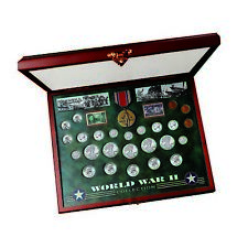NEW American Coin Treasures Comprehensive World War II Coin & Stamp Set 2851