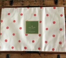 """NEW!  KATE SPADE NY  Set Of 4 Placemats """"Charlotte Street"""" Coral  REVERSIBLE"""