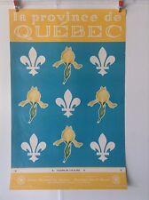 Vintage Original La Province de Quebec Travel Poster