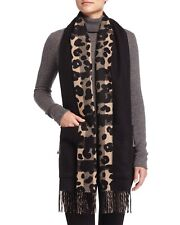 BURBERRY Helene Cashmere-Blend Animal-Print Stole, Camel $995 SOLD OUT