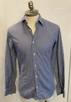 Z ZEGNA | MENS BLUE CHECK SHIRT | SIZE SMALL S | SLIM FIT | BUTTON UP