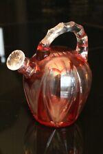 Carafe en cristal taillé et teinté de Saint Louis fin 19e début 20e