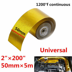 Car Auto High Performance Reflective Heat Protection 1200 °F Gold Tape 2'x200''