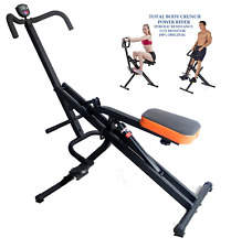 Total Crunch Riding Machine Abs Exercise Legs Core with Hydraulic Resistance NEW