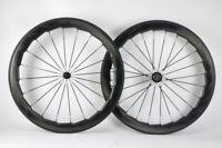 700c 50mm Dimple Carbon Road Bike Wheels Clincher Full Carbon Fibre Wheelset