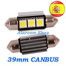 2 x bombillas led 39mm C5W Festoon 5050 Canbus No Error #1002