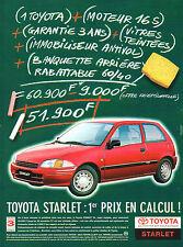 Publicité Advertising 1997  TOYOTA STARLET