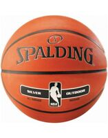 Spalding NBA Silver Outdoor Durable Rubber Max Grip And Control Basketball