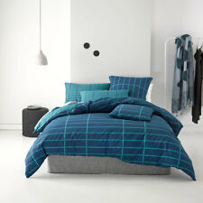 Deco Linen House Vasco Teal Double Bed Size Doona Quilt Cover Set RRP119.95