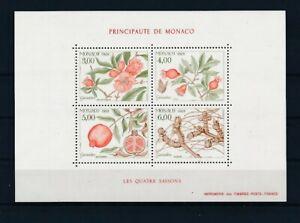 D196111 Plants Flowers Four Seasons 1989 S/S MNH Monaco