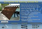 RV Awning Shade Kit RV Shade Complete Kit 8x20 (Brown)