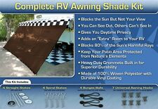 RV Awning Shade Kit RV Shade Complete Kit 8x16 (Brown)