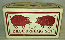 Vintage Bacon & Egg Set Pig Cast Iron Bacon Press 1978 Tailor & Ng In Box - New