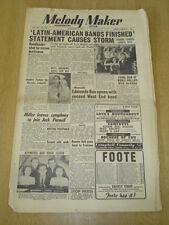 MELODY MAKER 1952 JANUARY 5 JACKIE GORDON SAMBA BAND EDMUND ROS MOE MILLER