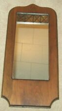 "VINTAGE R & J NOBEL WOOD CARVED WALL MIRROR 8 1/2 X 18 1/4"" BEAUTIFUL CONDITION"