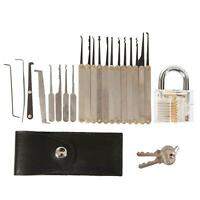 15pcs Unlocking Lock Pick Tool Hook Lock Picks Locksmith Tool