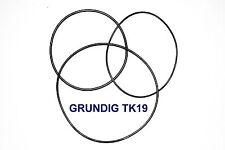 SET CINGHIE GRUNDIG TK 19 REGISTRATORE A BOBINE BOBINA NUOVE FRESCHE TK19 BELT